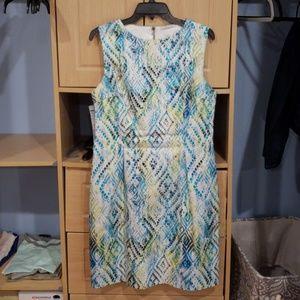 Multicolored Snake Print Dress